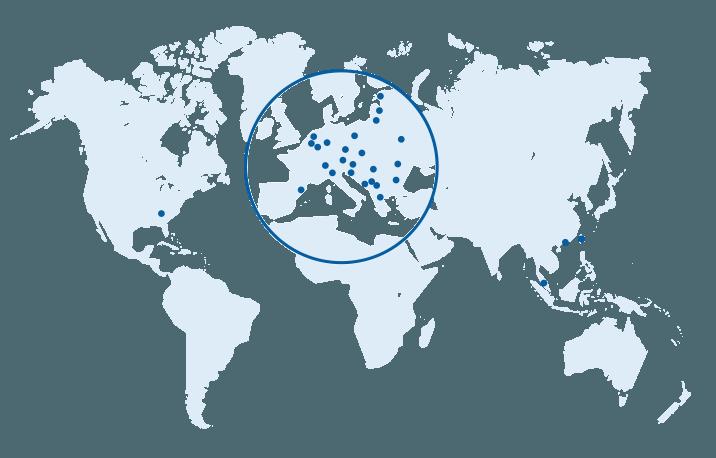 Weltweite Standorte